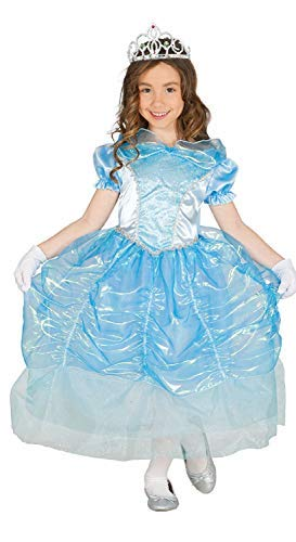 Swan Princess Kostüm - Girls Pretty Blue Ice Swan Princess Fairytale World Book Day Week Fancy Dress Costume Outfit 3-9 Years (7-9 Years)