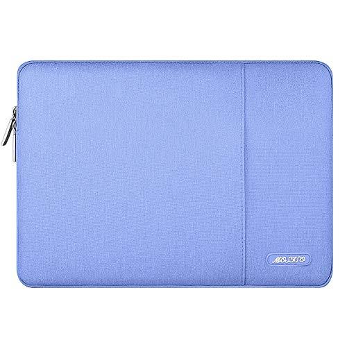 MOSISO Laptophülle Kompatibel 13-13,3 Zoll MacBook Air, MacBook Pro, Notebook Computer, Polyester Wasserabweisend Vertikale Stil Sleeve Hülle Schutzhülle Laptoptasche Notebooktasche, Serenity Blau
