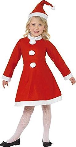 Smiffys, Kinder Mädchen Weihnachtsmann Kostüm, Kleid und Mütze, Größe: S, 38385 (Karnevals-kostüm-ideen Für Mädchen)