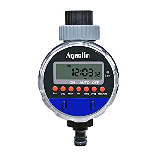 Aqualin Electronic Water Timer Garden Irrigation System Controller Watering Computer Waterproof Color Blue