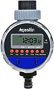 Aqualin Electronic Water Timer Garden Irrigation System Controller Watering Computer Waterproof, Blue