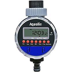 Aqualin Minuterie D'arrosage à l'Eau/Pluie Contrôleur d'irrigation Marche sans Pression, Vanne à Bille