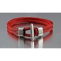 Bracciale corda nautica DK58 rosso marittima e sportivo da dünenkinder