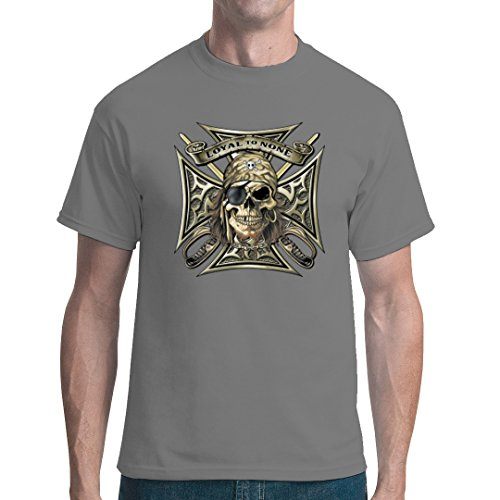 Gothic Fantasy unisex T-Shirt - Loyal to None Pirat Schädel by Im-Shirt Grau