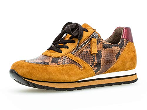 Gabor Damen Sport-Halbschuh 36.369, Frauen Low-Top Sneaker,Halbschuh,Schnürschuh,Strassenschuh,Business,Freizeit,Whisky/Curry/vino,42 EU / 8 UK