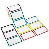 Cizen Etichette Adesive, 800Pz Etichette Multifunzione Rettangolar, Etichette Adesive Personalizzate Colorate per Alimenti/Casa/Ufficio, 85 * 55mm