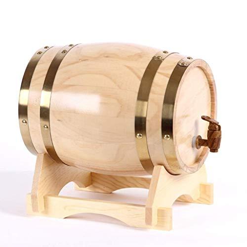 DLINMEI Personalisierte - Premium Eiche Aging Barrel - Whisky, Bier, Wein, Bourbon, Tequila, Rum, Hot Sauce & mehr (Color : Style A, Size : 10L)