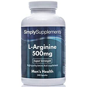 41A9TvFB DL. SS300  - L Arginine 500mg Capsules | High Strength Supplement Includes Iron to Reduce Tiredness & Fatigue | 240 Capsules = 80 Days Supply | Manufactured in The UK