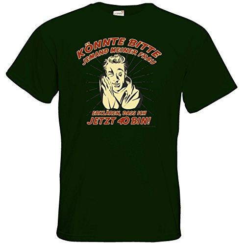 getshirts - RAHMENLOS® Geschenke - T-Shirt - Bitte meiner Frau erklaeren 40 Bottle Green