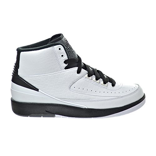 Nike Air Jordan 2 Retro, espadrilles de basket-ball homme white/black-dark grey