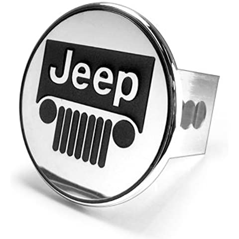 Jeep Grille Logo Steel Tow Hitch Cover Plug by Au-tomotive Gold