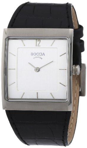 Boccia B3143-01 - Reloj de mujer de cuarzo, correa de piel color negro
