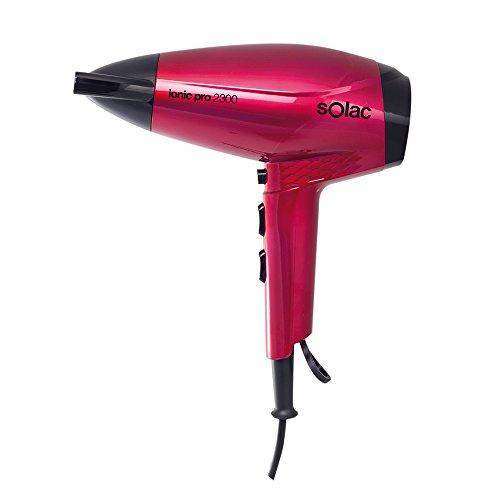 Solac SH7088 Ionic PRO2300 Compact - Secador de pelo (2300 W, 6 niveles de velocidad, tecnología iónica), rosa