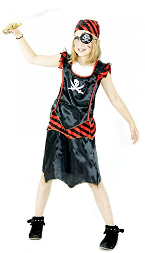 en Kostüm für Mädchen, Größe:98/104 (Halloween Kostüme Piraten Mädchen)