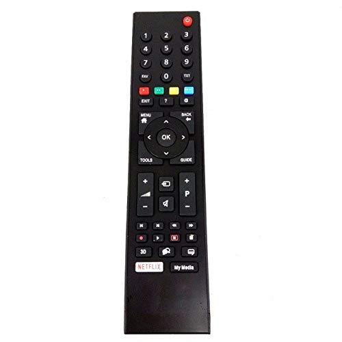 Fernbedienung kompatibles TS1187R, TS1187R, SMART-LCD-TV von GRUNDIG, RC3214801 / 02, TP7 TS1187R-1, Vestel, Netflix Taste