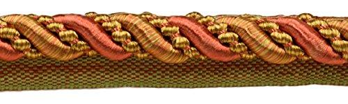 27Yard Value Pack groß 7/40,6cm Kupfer, Olive Grün, Beige, Noblesse Kollektion Lip Kordel Style # 0716h Farbe: Auburn Akzente–07H (25Meter/81FT.)
