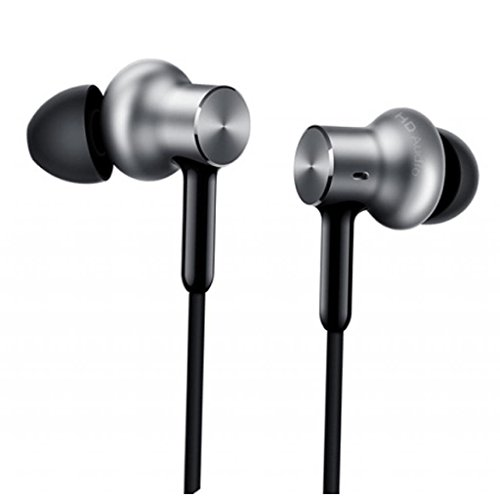 Xiaomi qtej02jy Original mi Circle Iron Hybrid Earphone Headphone Headset Earbud In-Ear Remote & mic-silver Pro HD versione
