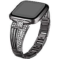 Hunpta@ Uhrenarmband für Fitbit Versa Einfach, Mode-Kristallmetalluhr-Band-Handgelenk-Bügel