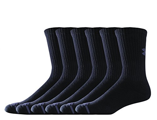 Under Armour Herren Sportswear Socken UA Charged Cotton Crew 6pk Socken & Strümpfe, Black, M - Brady Tom Socken