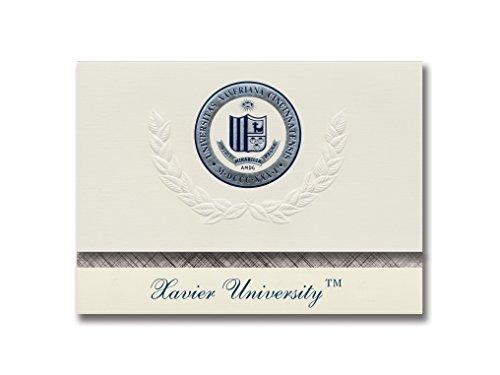 Signature Ankündigungen Xavier University Graduation Ankündigungen, platin Stil, Basic Pack 20mit Xavier u., Cincinnati, oh Dichtung Folie Xavier University