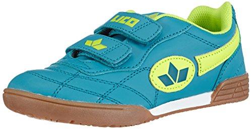 LicoBernie V - Scarpe Sportive Indoor Unisex - Bambini, Porpora (petrol/lemon), 37