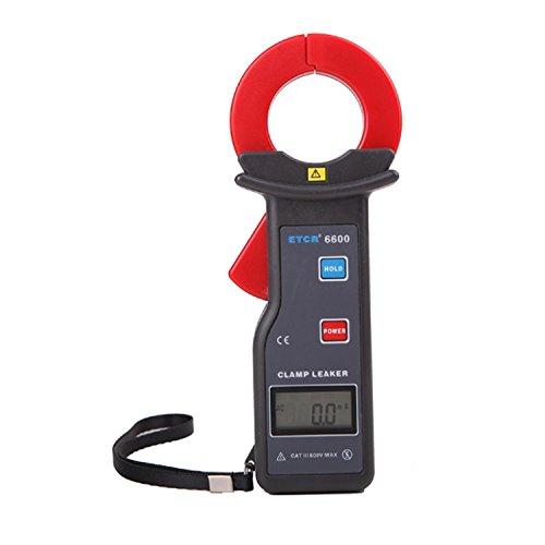 Multímetro Amperimetrica Digital, Resolución de 1mA Pinza amperimétrica de corriente de fuga de CA con pinza digital 0~600A Medición Interfaz RS232 ETCR6600 Clamp Meter