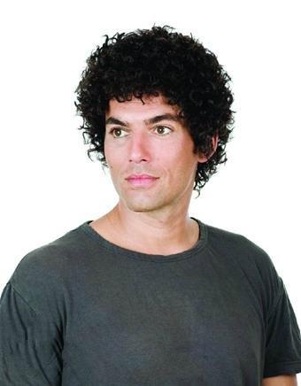 Haar Shorts Locken Kopf mano-tessuto atmungsaktiv lanuginoso schön 100% menschliches Haar Perücke-Haar ()