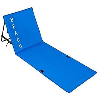 TecTake Esterilla de Playa Acolchada Respaldo Ajustable con asa de Transporte