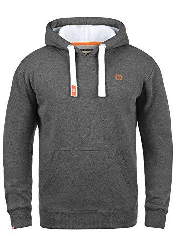 Solid Hoodie Sweatshirt (!Solid BennHood Pile Herren Kapuzenpullover Hoodie Sweatshirt mit Teddy-Futter und aus Hochwertiger Baumwollmischung, Größe:M, Farbe:Gre M P (P8236))
