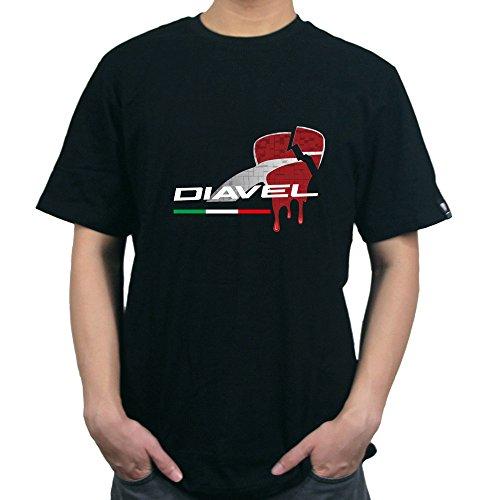 KODASKIN-EU moto algodón personalizable camisetas El corazón del diablo para Ducati Diavel...