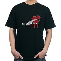 KODASKIN-EU moto algodón personalizable camisetas El corazón del diablo para Ducati Diavel 1200 (XXL, negro)