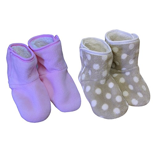 Chica Chic Chaussons Bottines Doux enfant Fille Lot DE 2