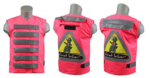 Fahrrad Sicherheit First Biker Kinder-Sicherheitsweste (Farbe: rosa) -