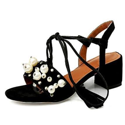 Ch & Tou Femmes-sandales-bureau Et Travail Soirée Formelle Et Fête-autre-bas-peluche-noir Rose Rouge Bleu Marine Noir