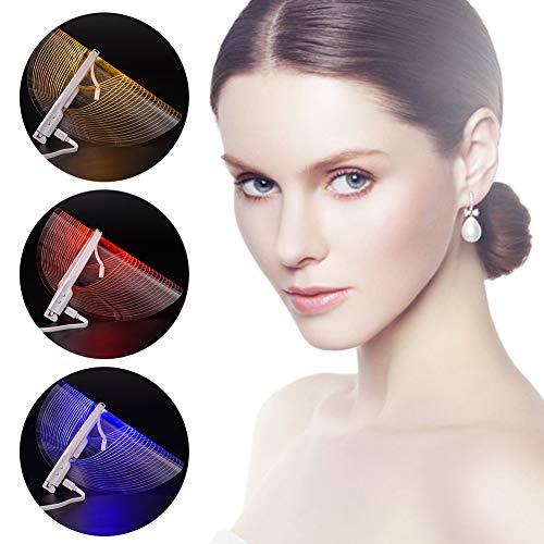 3 Farbe LED Gesichtsmaske Licht Photon Therapie Schönheit Instrument SPA Behandlung Anti Akne Falten Entfernung Haut Pflege Lichtbehandlung Phototherapie Lampe Gerät zum Frau Männer -