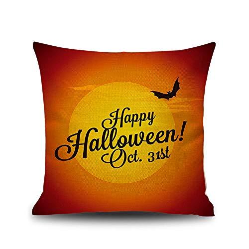 ckte Leinen Halloween Kissenbezug Festival Bar Kürbis Hexe Dekoration Kissen Kissenbezug 31. Oktober 45X45cm ohne Kissen ()
