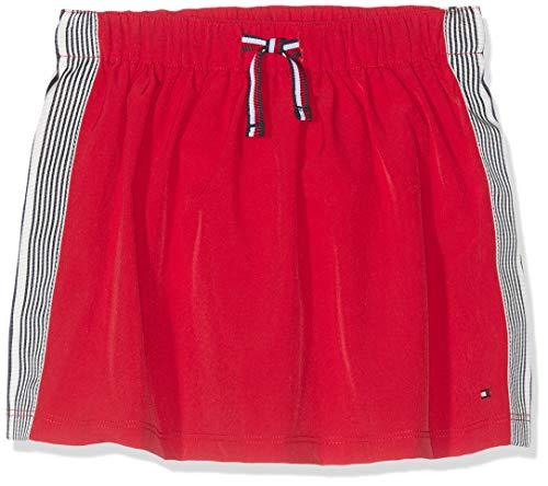Tommy Hilfiger Baby-Mädchen MODERN SOLID Tape Skirt Rock, Rot (True Red 635), (Herstellergröße: 92)