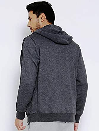 cost charm stable quality shades of Adidas Charcoal Grey ESS 3S FZ B Hooded Training Sweatshirt ...