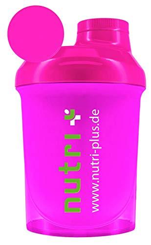 Lady-Shaker 300ml - Eiweiß-Shaker für Frauen - Super Pink - BPA-frei - ohne Weichmacher - für Fitness Bodybuilding Sport - Nutri-Plus