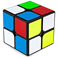 Buself Zauberwürfel 2x2 Speedcube, 2x2 Speed Cube Original Magic Cube Puzzle Spielwürfel(Schwarz)