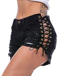 Amazon.es  Pantalones Cortos Vaqueros - Vaqueros   Mujer  Ropa f8ea74d94421