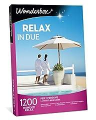 Idea Regalo - WONDERBOX Cofanetto Regalo per lei - Relax in Due - 1200 MOMENTI Relax per 2 Persone