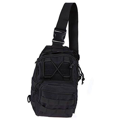 Ajusen Military Umhängetasche Brusttasche Rucksack Multifunktions Tactical Schultertasche Chest Bag für Radfahren Wandern Camping 5
