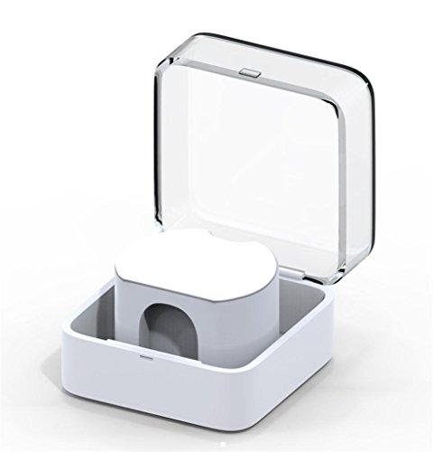 Jintime Tragbare Ladegerät Box Stand Dock Cradle Halter für Apple Watch Series 3 Reise Aufbewahrungsbox Smart Watch Ladegerät 8.5 cm * 8.5 cm * 4 cm (White) (Box Dock Storage)