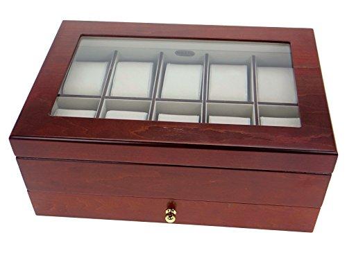 Mele & Co 1476 Edle Uhrenbox Sahir Nussbaumfinish Holz Uhrenschatulle Vitrine Uhr