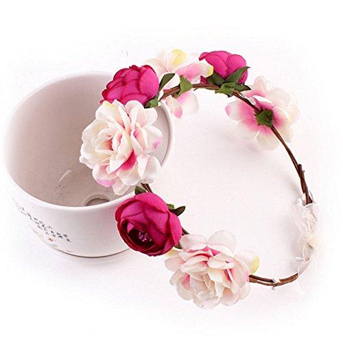 de-Kranz Mode Stoff Rose Stirnband Hairband Partei-Hochzeit Blumen Crown Kopfbedeckung Frauen-Mädchen-Baby Haarschmuck (Blume Hairband)