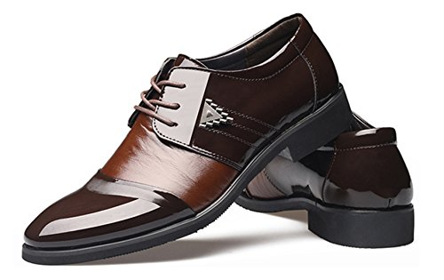 DADAWEN Homme Commercial Leather Lustrage Chaussure Brun