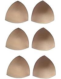 Tinksky 6 paires soutien-gorge Pads Inserts amovibles Bust Enhancer pour maillots de bain femmes (couleur de la peau)