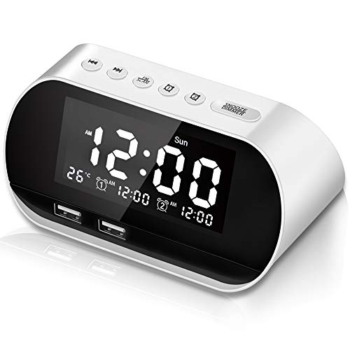 CHIMAERA Reloj Despertador ,Digital Alarma despertador,FM Radio Reloj Digital ,Despertador...