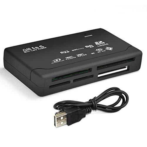 VCB Speicherkartenleser Mini 26-IN-1 USB 2.0 High Speed   für CF xD SD MS SDHC - schwarz (Sd-card Reader Mit Kabel)